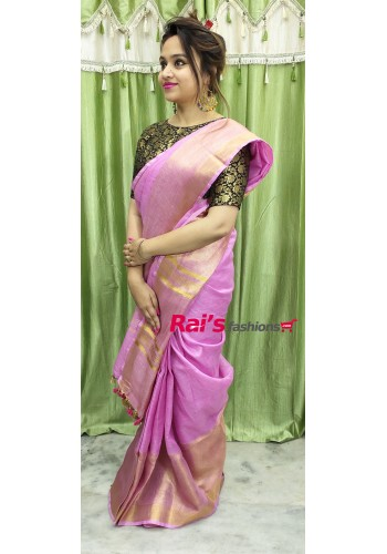 Linen By Linen Wild Net Border Saree(17F14)