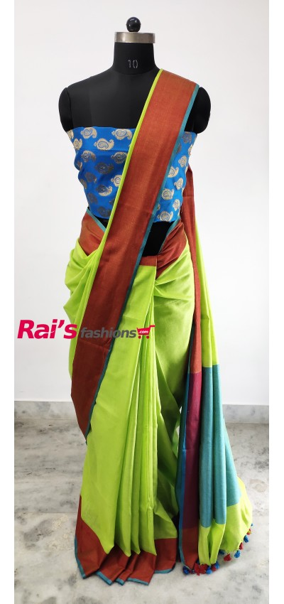 Pure Handloom Cotton By Cotton Saree(2J12)