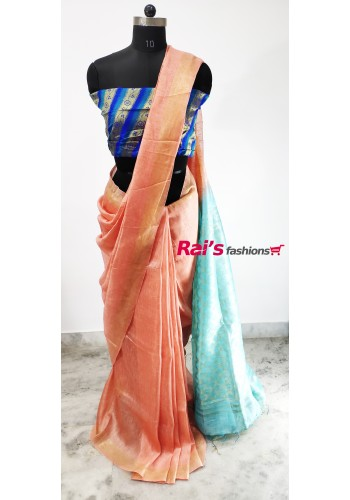 Silk Linen Pallu Weaving Work Saree(29CD5)