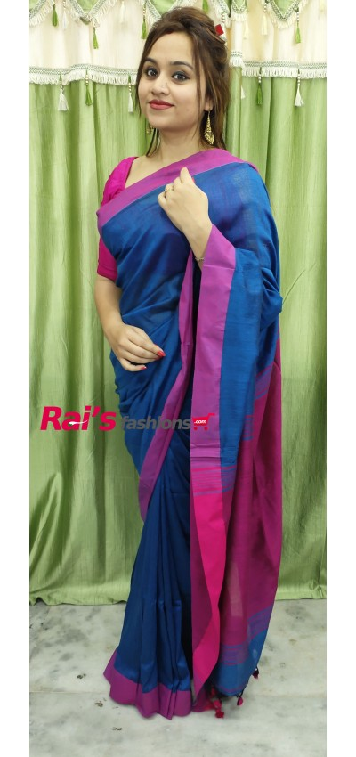 Pure Handloom  Khadi Cotton Silk Saree(22F23)