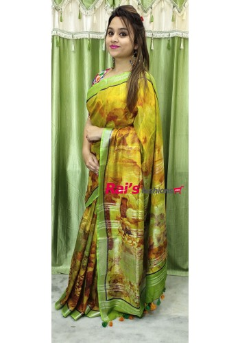 Premium Quality Pure Handloom  With Full Body Printed(16MAR01)