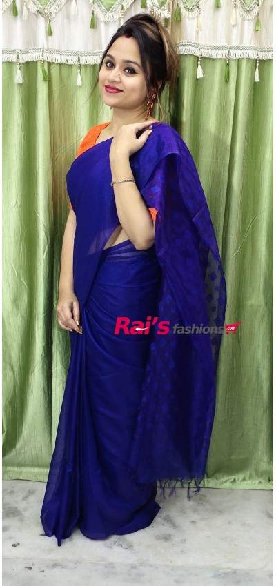 Pure Handloom Semi Oranza Silk Saree(8F610)