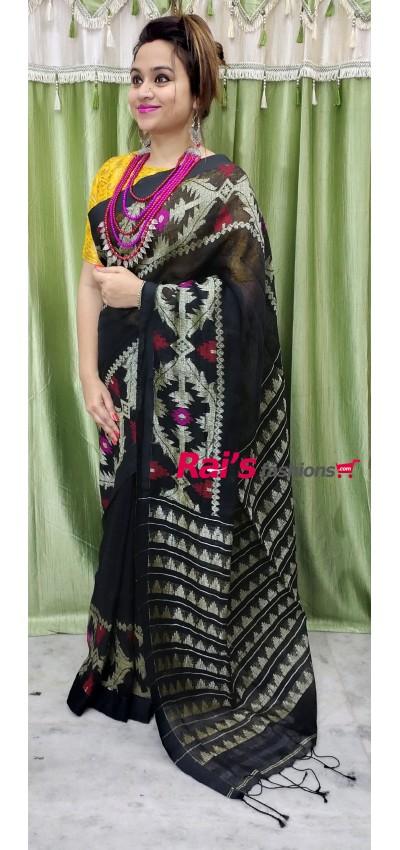 Linen By Linen With Dhakai Jamdani Work(5MCC11)