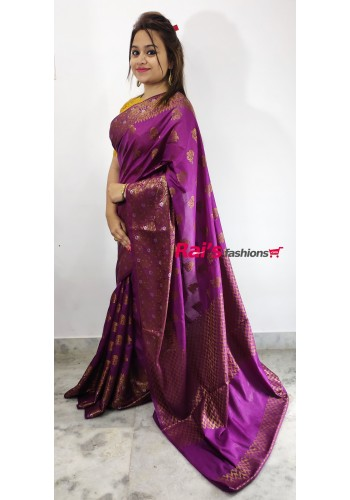 Pure Handloom Silk With Full Body Weaving  Work Saree(180F13)