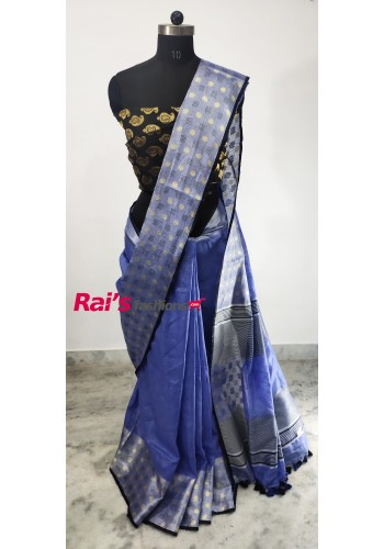 Linen By Linen With Weaving Border Saree(30DC7)