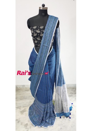 Linen by Linen With Checks Saree(9J10)