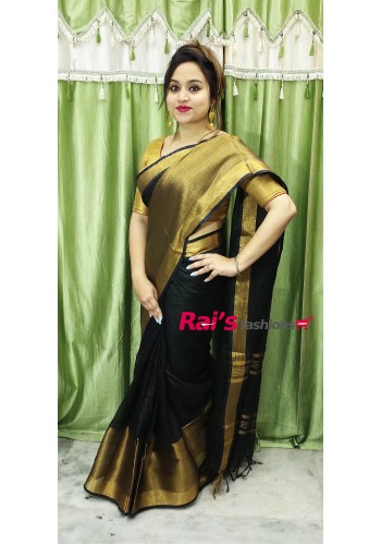 Linen By Linen Wild Net Border Saree(29CKKD3)