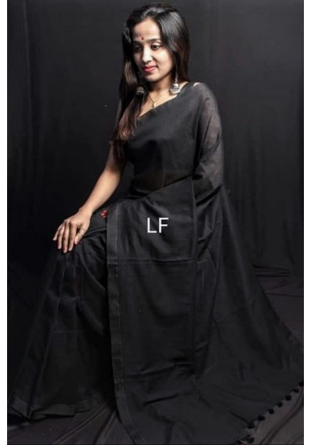 Handloom Khadi Cotton Black Color(RB45)