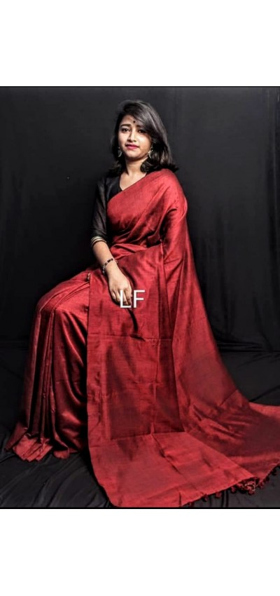 Handloom Khadi Cotton Maroon Color(RM01)