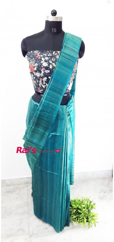 100% Handloom Gicha Silk  Stripes Pallu Saree(3JULY10)