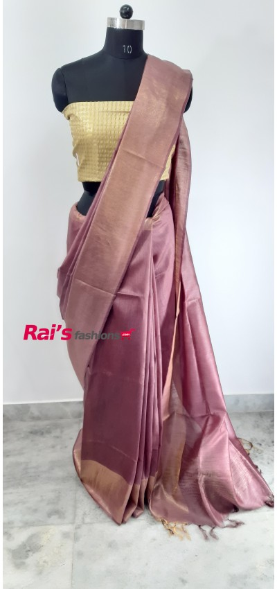 100% Pure Tasur Munga Saree(2JUL458)