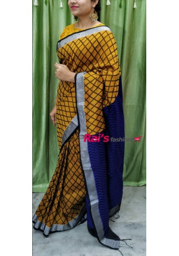 Linen By Cotton Full Body Self Weaving Work(6P1302)