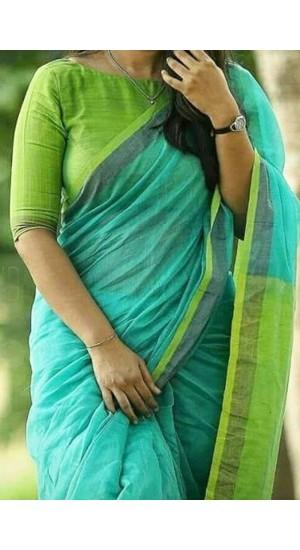 100% Handloom Linen saree (PRA-L15)