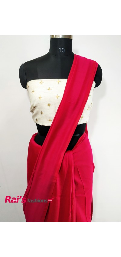 Handloom Khadi Cotton Magenta Pink Color(QWE698)