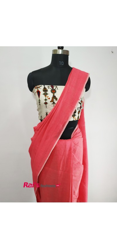 Handloom Khadi Cotton Pink Color(RTY568)